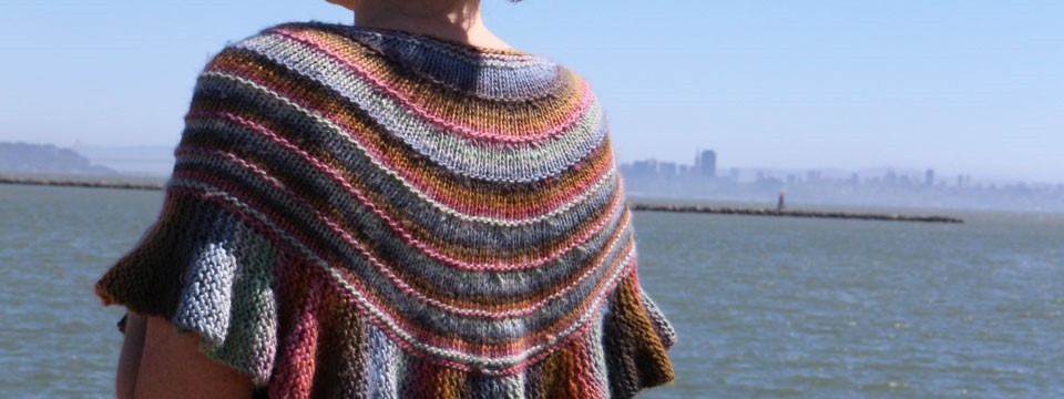 Ruffled Shawl in Mochi Plus