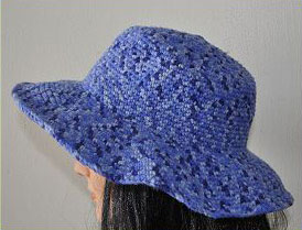 Free Pattern Crochet Wide Brim Hat : Brimmed Hat - Cuddles - Crystal Palace Yarns