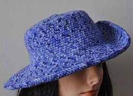 Brimmed Hat - Cuddles - Crystal Palace Yarns b245dc9f391
