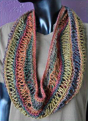 Free Drop Stitch Knitting Patterns : Drop Stitch Cowl - Sausalito - Crystal Palace Yarns
